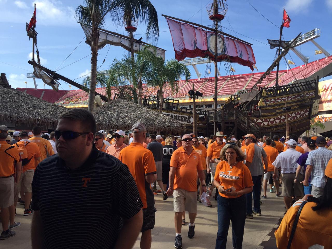 Ship in Raymond James stadium