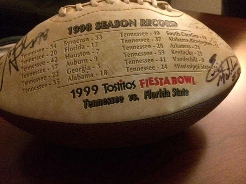 I found an old football