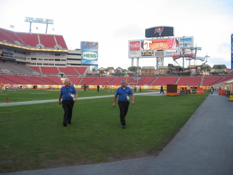 Here comes Security to kick me off the field