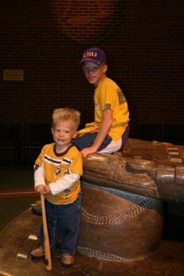 The boys at the Louisville Slugger Museum